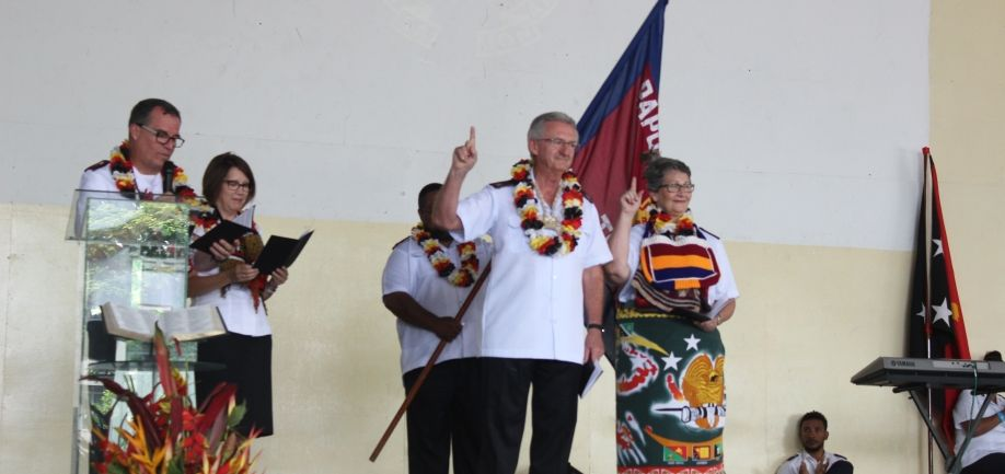 Colonel Kelvin & Julie Alley installed as the new territorial leaders of PNG territory