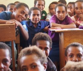 School children at Kainantu